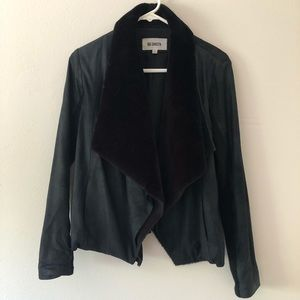 BB Dakota Suede Faux Detachable Fur Jacket